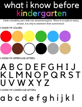 Kindergarten Assessment {Before Kindergarten, Preschool Assessment}