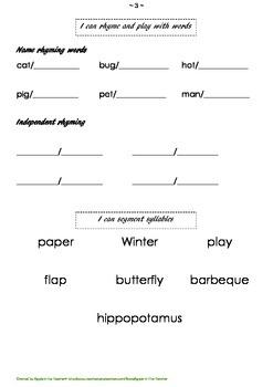 Kindergarten Assessment Booklet