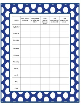 Kindergarten Assessment Checklists