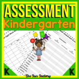 Kindergarten Assessments | Beginning of Year / Mid-Year / End of the Year BUNDLE