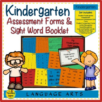 Kindergarten Assessment Forms and Sight Word Book