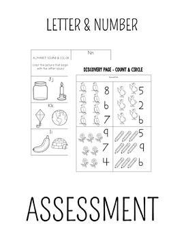 Kindergarten Assessment: Letters H-N & Numbers 6-10