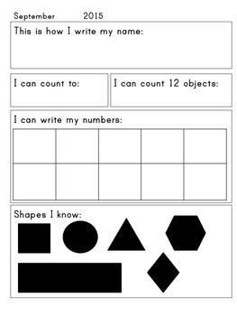 Kindergarten Assessment Packet