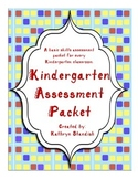 Kindergarten Assessment Packet (Common Core)