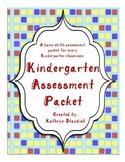 Kindergarten Assessment Packet (Common Core)