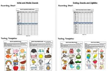 Kindergarten Assessment Packet ~ Literacy & Math