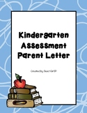Kindergarten Assessment - Parent Letter