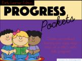 Kindergarten Assessment Progress Pockets w/ Editable cards