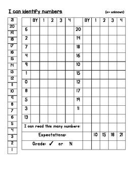 Kindergarten Assessment Records