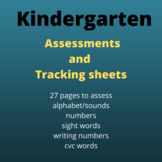 Kindergarten Assessment Sheets