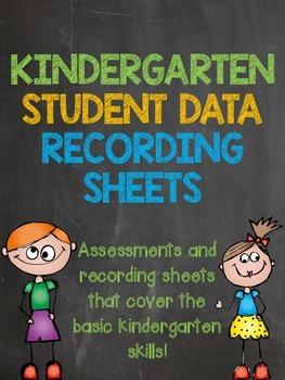 Kindergarten Assessment Sheets