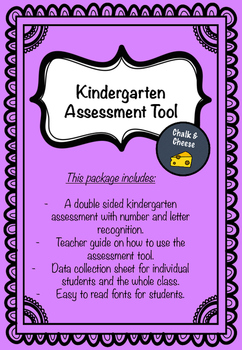 Kindergarten Assessment Tool
