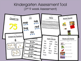 Kindergarten Assessment Tool (3rd 9 weeks of school)
