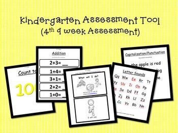 Kindergarten Assessment Tool- (4th 9 weeks of school)