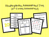 Kindergarten Assessment Tool- (4th 9 weeks of school)