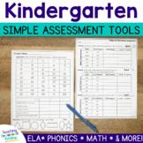 Kindergarten Assessment Tools Pack