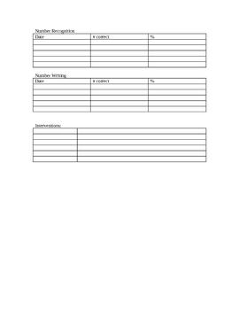 Kindergarten Assessment and Intervention Form