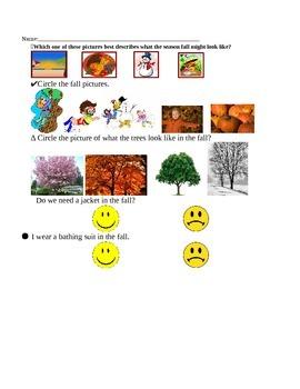Kindergarten Assessment in the Season Fall