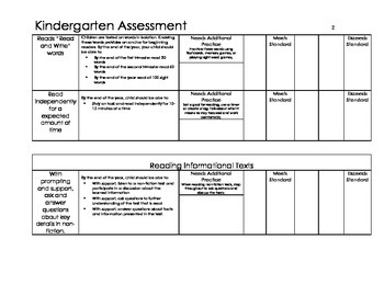 Kindergarten Assessment with Explanations DIGITAL COPY