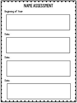 Kindergarten Assessment {Beginning of the Year}