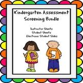 Kindergarten Assessment Screening Bundle