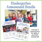 Kindergarten Assessments Math and ELA Bundle