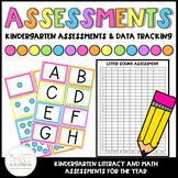 Kindergarten Assessments & Data Tracking | Literacy & Math Assessments