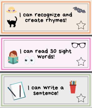 """Kindergarten Assessments & """"I Can"""" Learning Goals"""