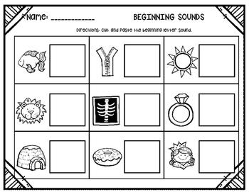 Kindergarten Assessments~ Print and Go!