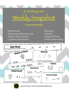 Kindergarten Assessments: Weekly Snapshots 1