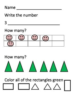 Kindergarten August And September Math Activities