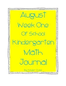 Kindergarten August Math Journal