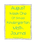 Kindergarten August Math Journal