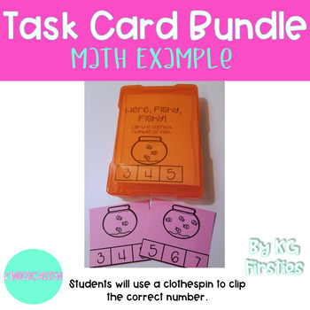 Kindergarten August Task Cards