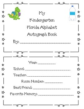 Kindergarten Autograph Book: My Florida Alphabet