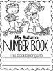 Kindergarten Autumn Number Writing Pack