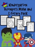 Super Hero Avengers Kindergarten Math and Literacy Pack