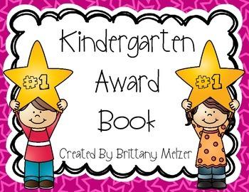 Kindergarten Award Book