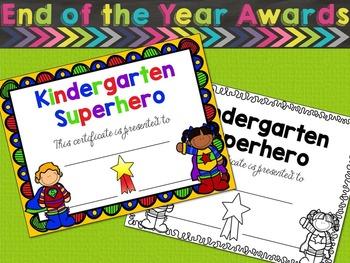 Kindergarten Awards and Certificates - Kindergarten Completion