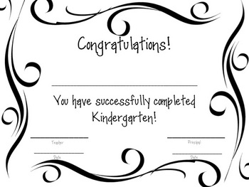 Kindergarten Awards/Certificates