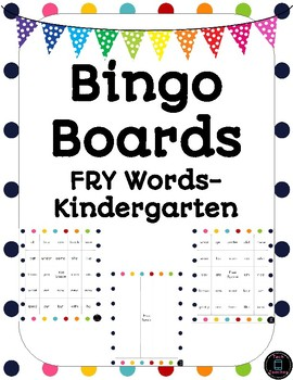Kindergarten BINGO Board