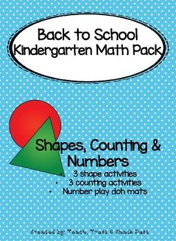 Kindergarten BTS math activities