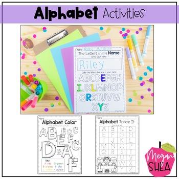 Kindergarten Back To School Activity Pack