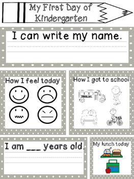 Kindergarten Back To School Freebie