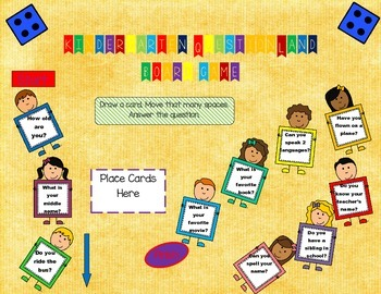 Kindergarten Back To School Question Land Board Game Fall Getting to Know You