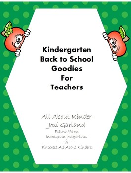 Kindergarten Back to School