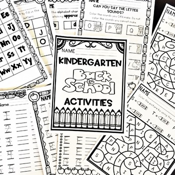 Kindergarten Beginning of the Year Back to School September Activities