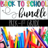 Back to School Centers and Activities Bundle