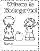First Week of Kindergarten *Common Core Aligned*
