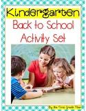 Kindergarten Back to School Activities